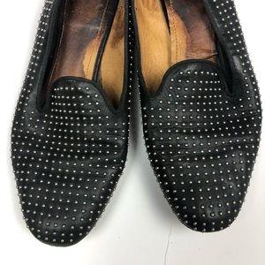 Coach Shoes - Coach Black Leather Studded Flats